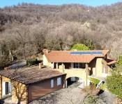 SCANZOROSCIATE - Villa bifamiliare con vigna a via Monte Bianco per TRATTATIVE IN UFFICIO